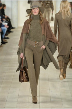 Ralph Lauren SantaFe style in rich khaki toned with suede and woollen blends