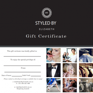 Gift Voucher for Deluxe Personal Restyle Package